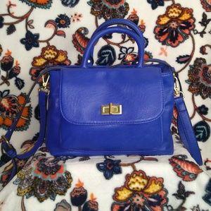 Women's Multi Pocket Cobalt Blue Purse
